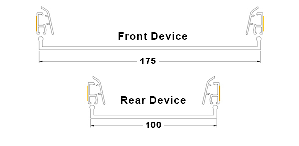Finger Guardian  Front And Rear Dimensions