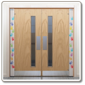 Guard doors door view guard security doors amazing for Door finger guards