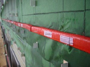 Installed Rainscreen Cladding Fire Barrier.
