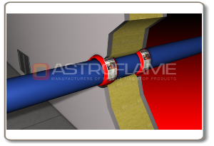 CE Marked Intumescent Pipe Wrap in Firewall.