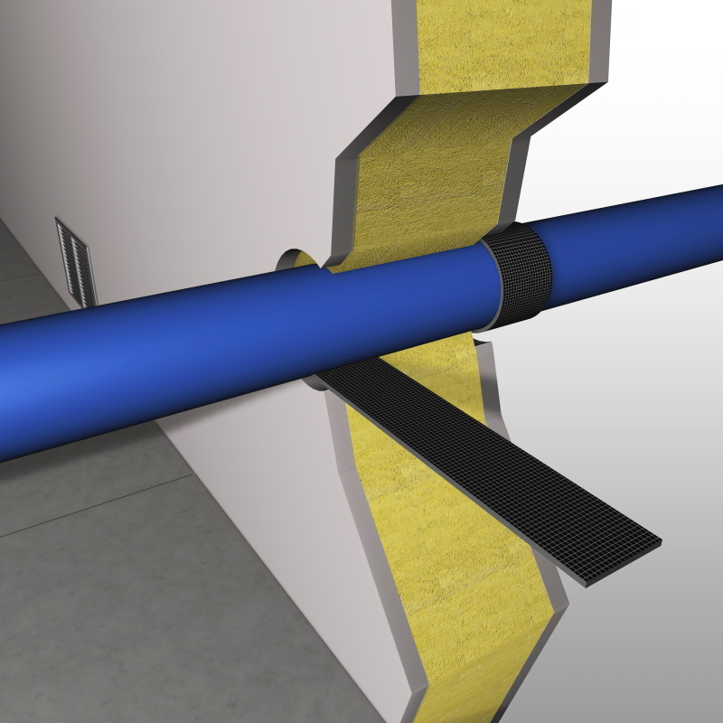Intumescent Pipe Wrap On A Roll