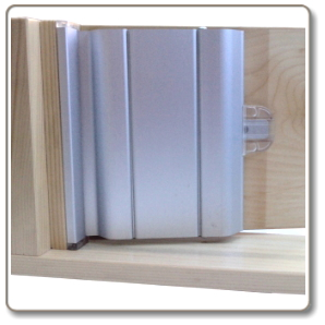 Aluminium door finger guards for Door finger guards
