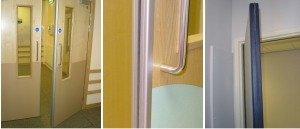 Door edge guards - fitted examples.