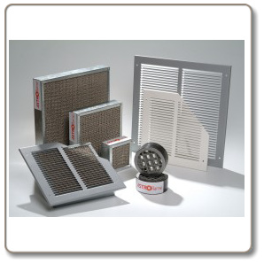 Intumescent fire grille range