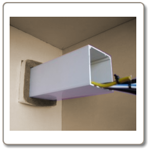 Intumescent fire trunking