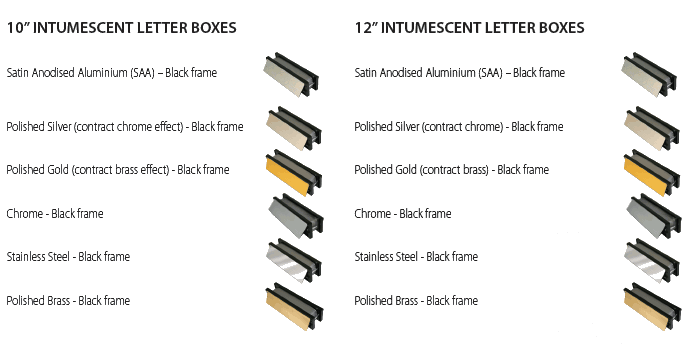 Fire Rated Letterbox range.