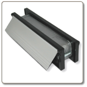 Intumescent letterbox - 30 min rated -  anodised aluminium.