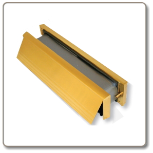 Intumescent  Letterbox  -  Gold finish - 30/60 minute rated.