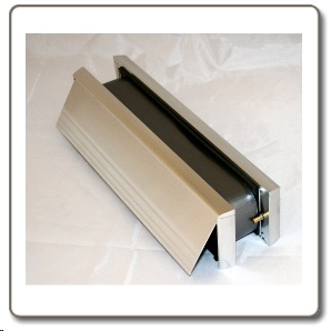 Intumescent  Letterbox  -  Contract Chrome finish  - 30/60 minute rated.