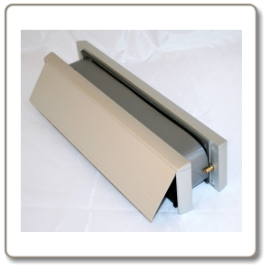 Intumescent  Letterbox  -  Satin Anodised Aluminium finish - 30/60 minute rated.