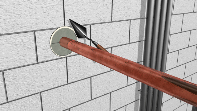 Walls rated penetrations pipe through