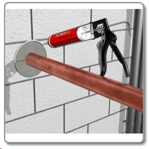 Thermal Fire Pipe Sleeve : Copper pipe : Solid wall.